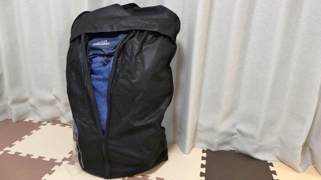 登山ザックの保管方法に不織布のスーツカバーがおすすめ